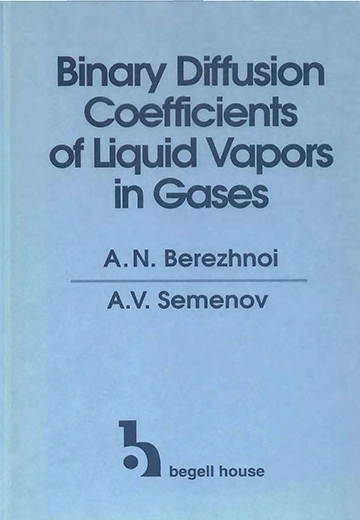 Binary Diffusion Coefficients of Liquid Vapors in Gases