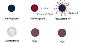 Schematic representation of different topical solid nanoparticle systems. Vol. 27, Iss. 5, Polymeric andLipid-Based Materials for Topical Nanoparticle Delivery Systems.